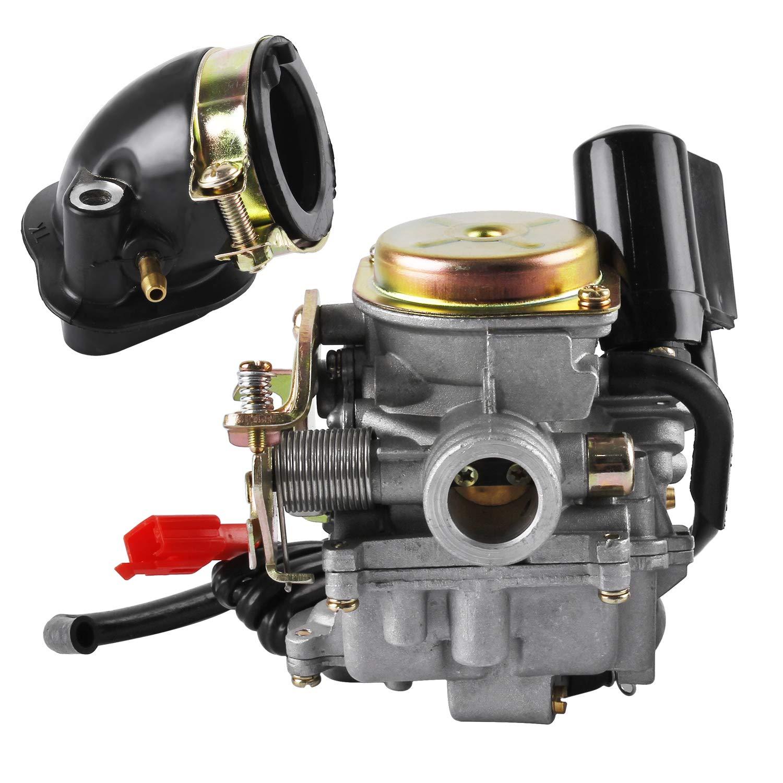 18mm Roller Vergaser und Ansaugstutzen fü r Rex RS 400/RS 450/RS 460/GY6 50cc/GY6 60cc BAODE