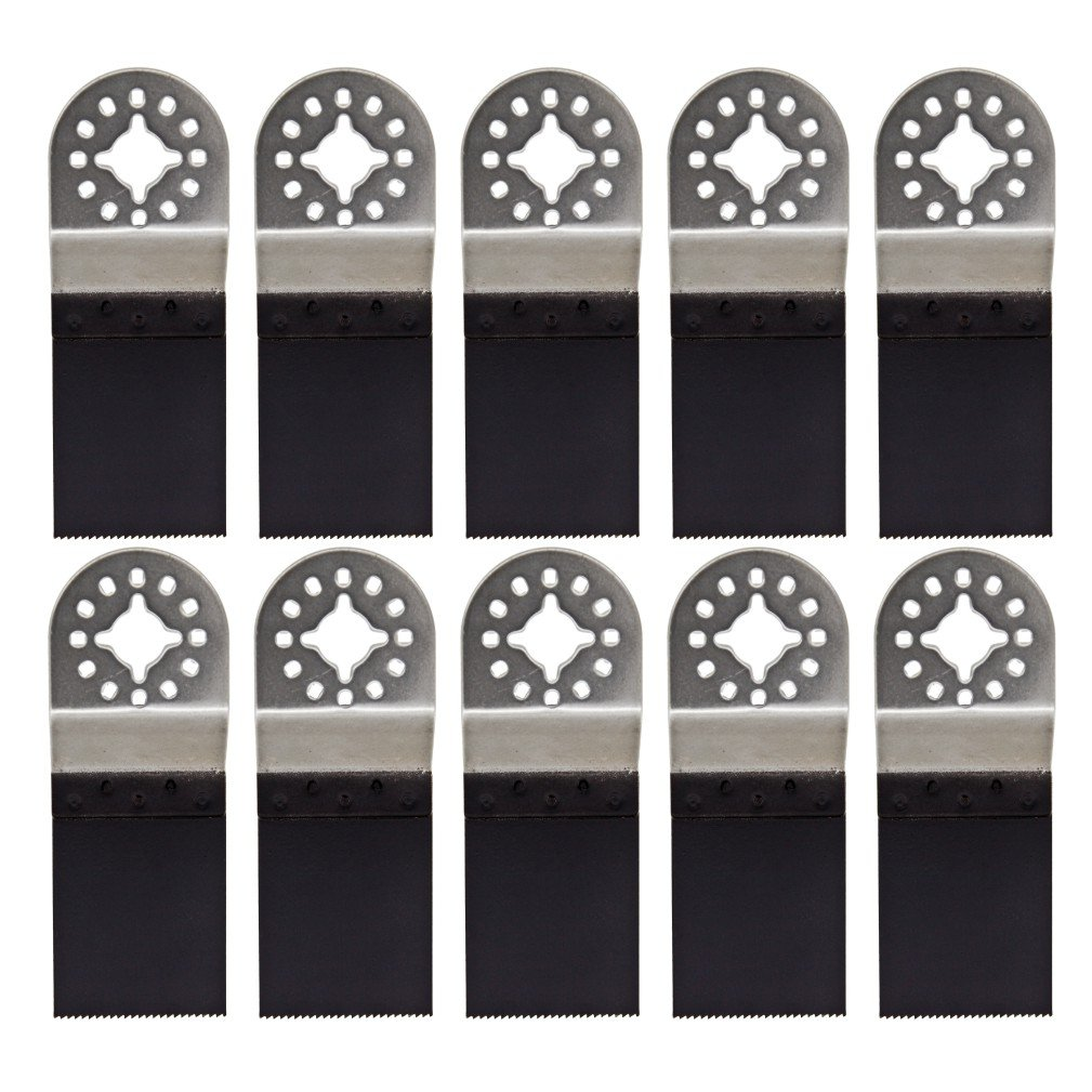 Harpow 10 pieces Bi-metal E-cut saw blade with stainless steel holder,power oscillating tool blades,multitool blades,power tool saw blades,fits Fein Bosch Craftsman Rockwell Einhell Westfalia Ferm Pro-Line Matrix tools