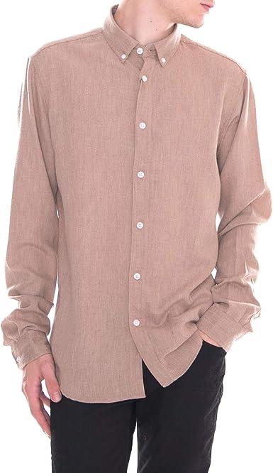!Solid - Camisa - Juan Ginger Sna - Beige: Amazon.es: Ropa y accesorios