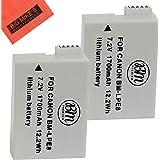 BM Premium 2-Pack of LP-E8 Batteries for Canon EOS Rebel T2i, T3i, T4i, T5i, EOS 550D, EOS 600D, EOS 650D, EOS 700D DSLR Digital Camera