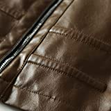 XOWRTE Men's Casual Solid Stand Zipper Fall Winter