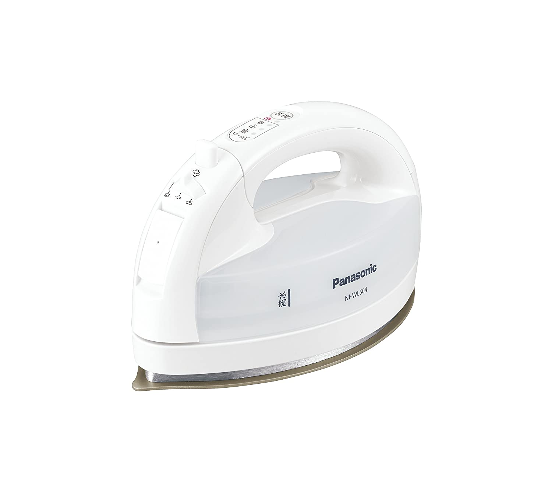 パナソニック コードレススチームWヘッドアイロン ホワイト NI-WL504-W + アイロン用あて布 NJ-A1 セット B07587VR45 ホワイト|本体+あて布 ホワイト