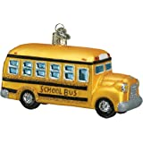 Old World Christmas School Bus Glass Blown Ornament