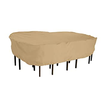 Classic Accessories Terrazzo Rectangular/Oval Patio Table U0026 Chair Set Cover    All Weather Protection
