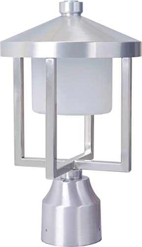 Craftmade Z9215-SA-LED Alta Outdoor LED Post Mount, Satin Aluminum 1-Light 8 W x 13 H 9 Watts