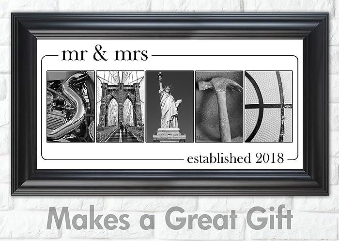 Amazon Com Personalized Wedding Gift Mr Mrs Custom Photo
