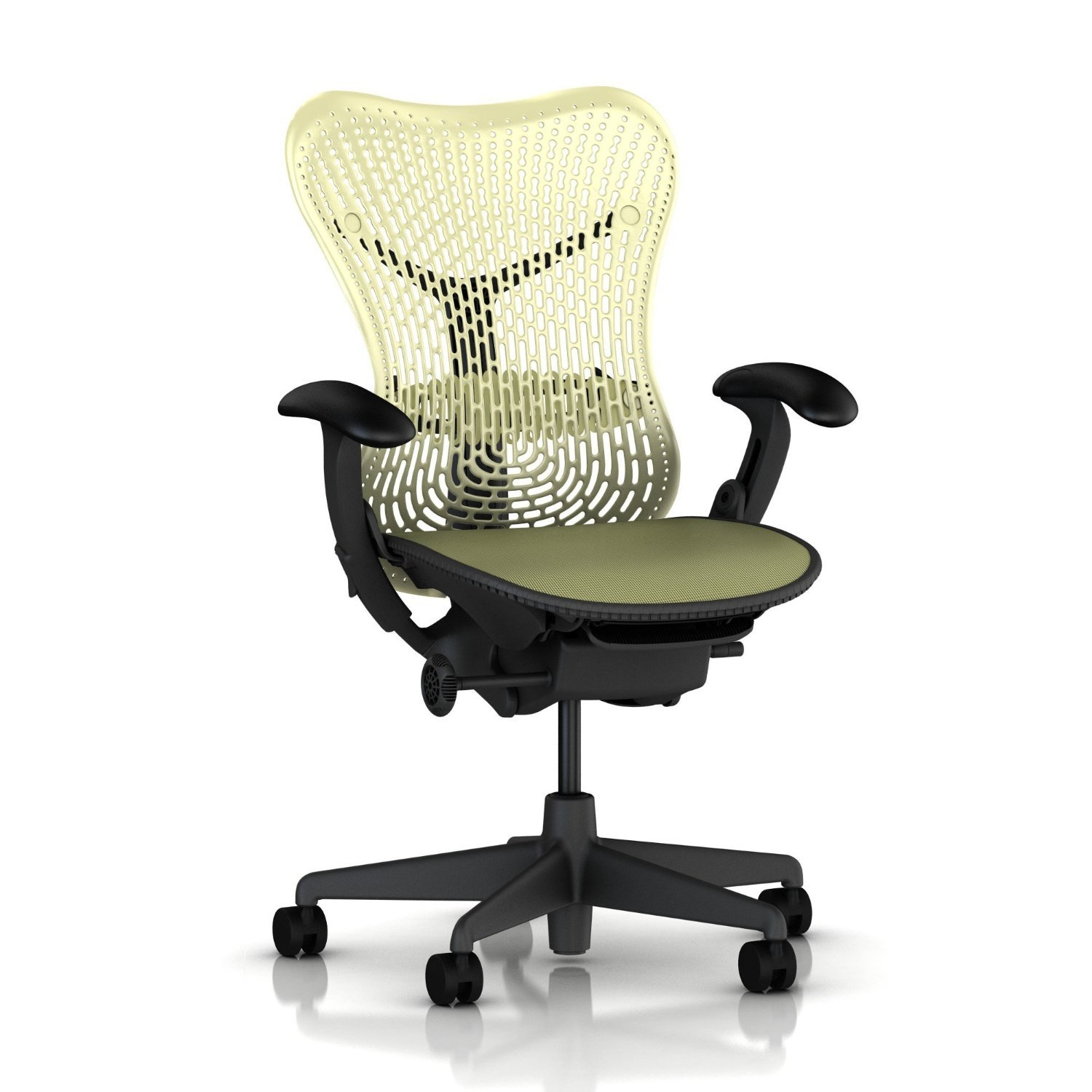 amazoncom herman miller mirra chair fully featured  adjustable  - amazoncom herman miller mirra chair fully featured  adjustable arms flexfront seat  tilt limiter  lumbar support  standard carpet casters