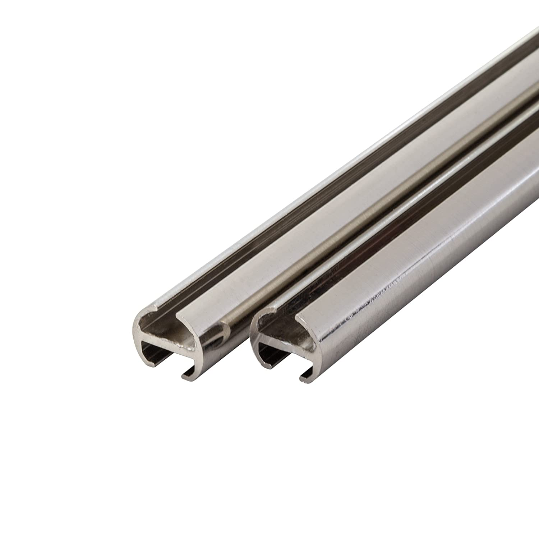 Tringle /à Rideaux//Rail /à Rideaux 1-Guidage 120cm 2 en 1 Victoria M /Ø 16mm Argent