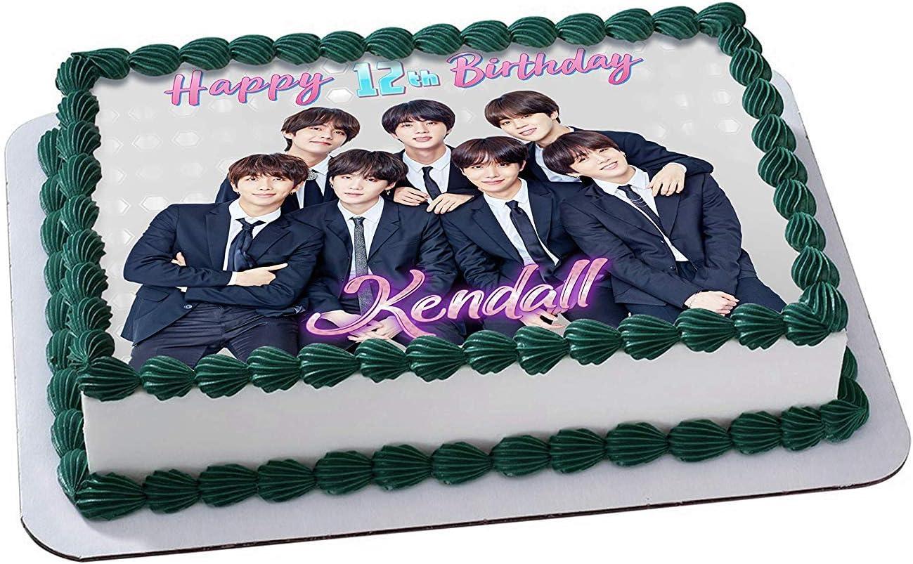 Awesome Amazon Com Bts Boy Band Bangtan Boys Edible Cake Image Topper Birthday Cards Printable Opercafe Filternl
