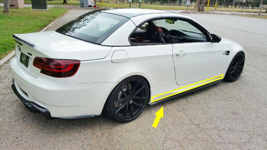 2.15M Glossy Black M Color Strip Sticker Door Sill Vinyl Decal for BMW 3 4 5 Series E60 E61 F32 F33 F36 F30 F31 Xotic Tech Direct
