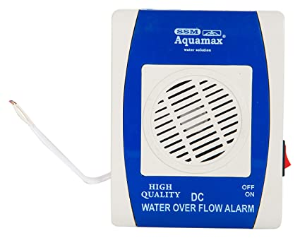 ssm aquamax plastic water over flow alarm w/o wire and sensors, standard,  white: amazon in: home improvement