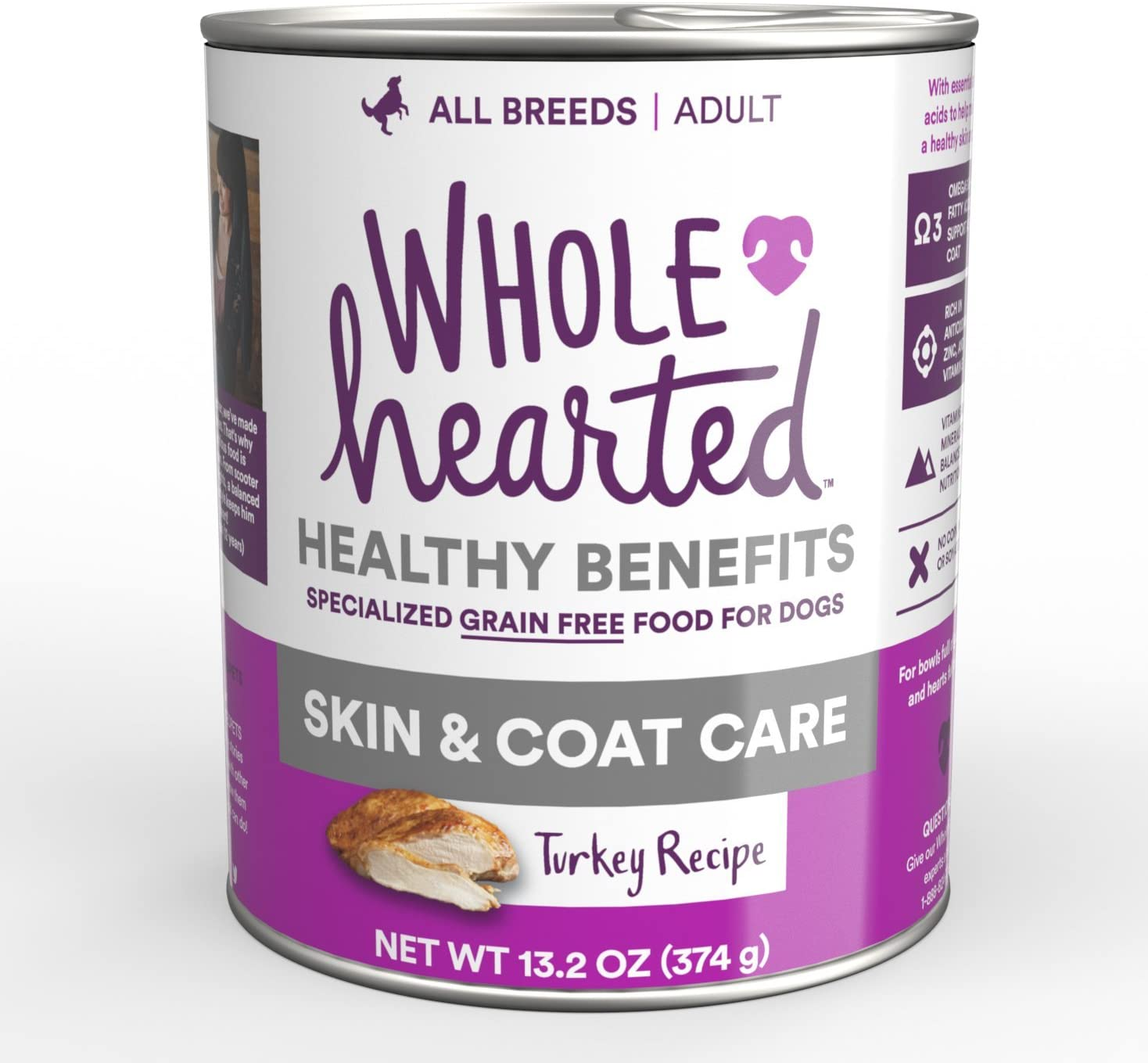 WholeHearted Skin & Coat Care Turkey Recipe Wet Dog Food
