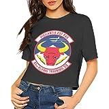 QMJJJP 453rd EWS Operation Flight Women Womens Baseball Short Sleeves Casual Printed t-Shirts