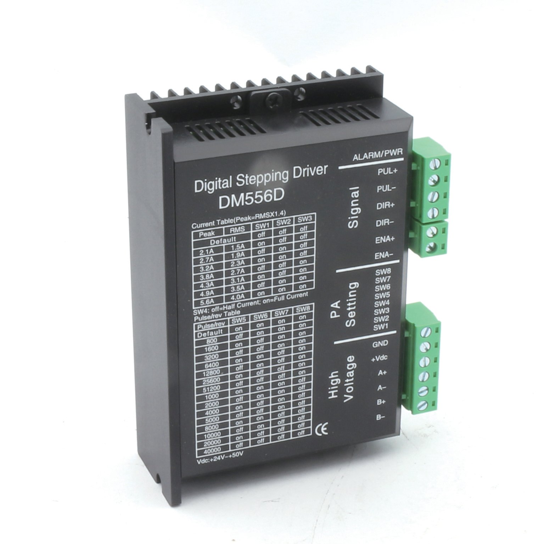 Nema17 Nema23 Digital Stepper Motor Driver DM556D 5.6A 24-50VDC 256 Microstep High Performance for CNC Router Engraving Milling Machine