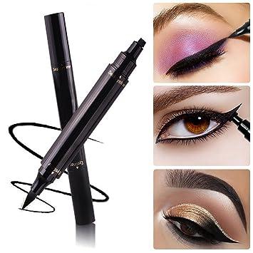 Eyeliner Stamp Cat Eye Waterproof 2 In 1 Natural Easy Makeup Wing