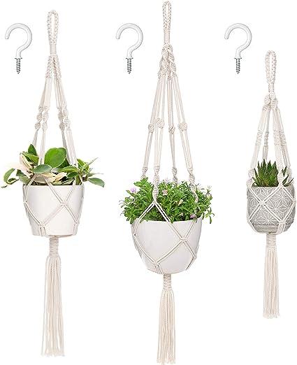 Plant Hanger Planter Basket Garden Macrame Hanging Rope Flower Pot Holder Decor