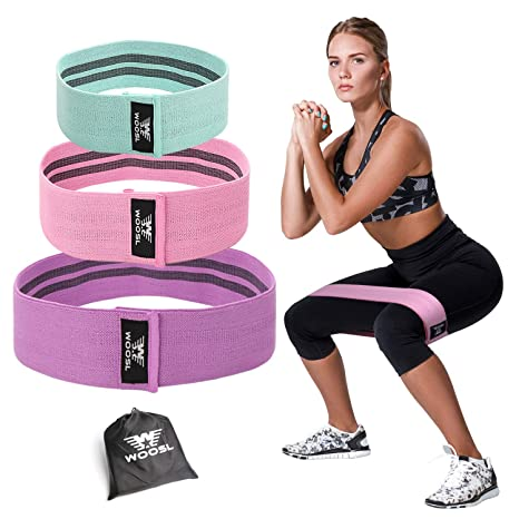 Amazon Com Woosl Resistance Bands Legs Butt Exercise Bands