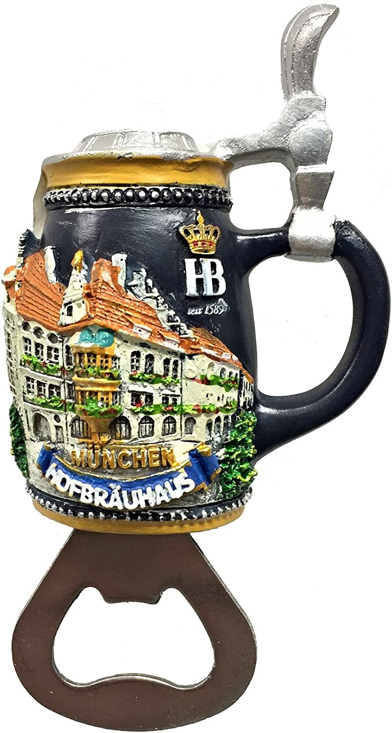 Hofbrauhaus Munchen Magnetic Beer Bottle Opener Munich Germany Oktoberfest