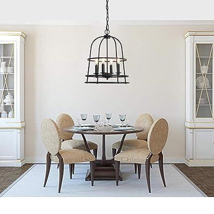Industrial Metal Chandelier Cage Pendant Light Pendant Lighting Fixture  Dining Room Hanging Lamp Living Room Pendant Lamp Traditional Simple Black  ...