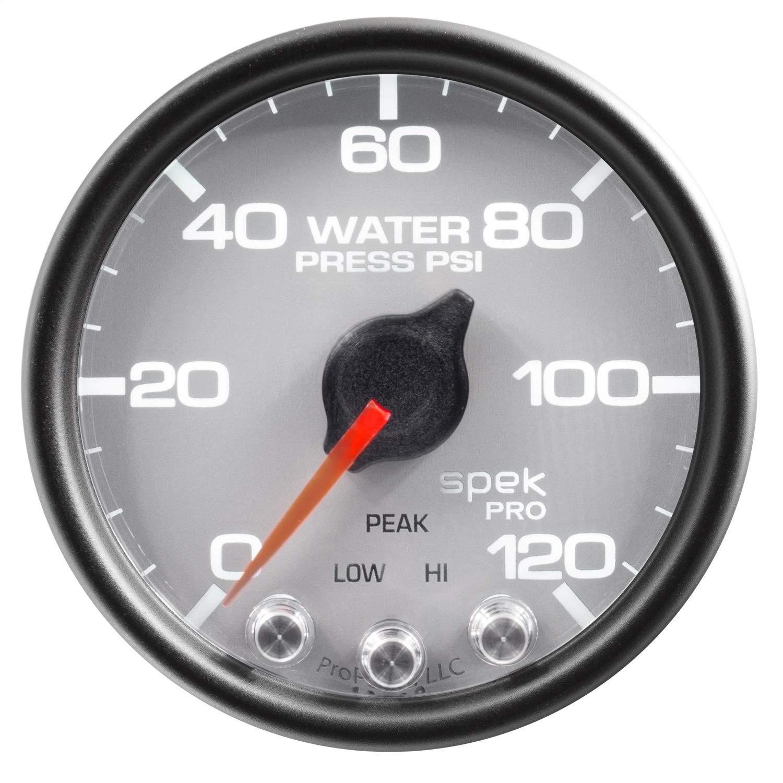 Stepper Motor W//Peak /& Warn 120Psi Water Press Slvr//Blk 2 1//16 Spek-Pro 2 1//16 Auto Meter P34522 Gauge