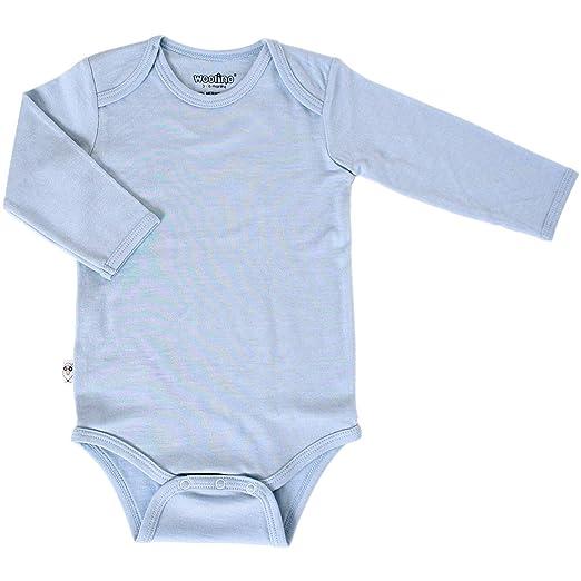 9605b8de5 Amazon.com  Woolino Unisex Long Sleeve Bodysuit for Babies
