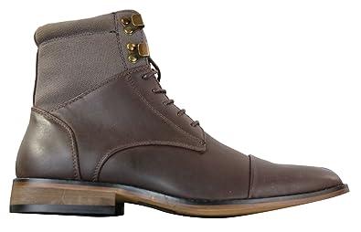 4125363550d1a Bottines homme sérrées vintage rétro style Sherlock avec lacets chic  décontracté simili et cuir