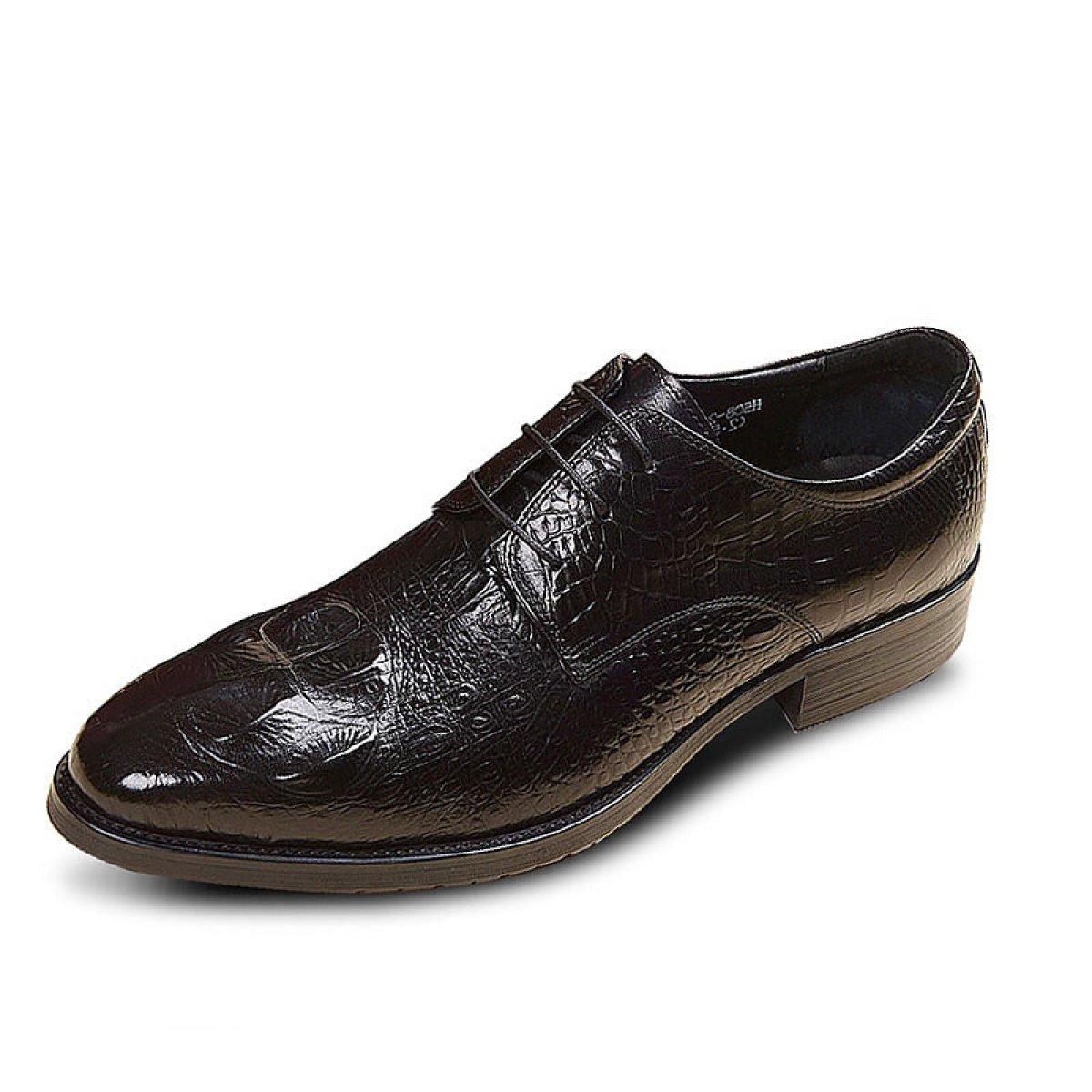 GRRONG Mauml;nner Mode-Business Schuhe Hochzeit Schuhe  39|Black