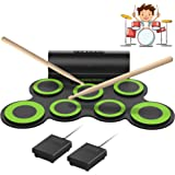ORASANT Electronic Drum Set, Roll-able Electric Drum Set, Drum Practice Pad with Foot Pedals Drum Sticks Headphone Jack…