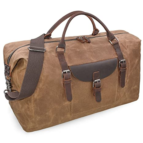 a305838510dc Oversized Travel Duffel Bag Waterproof Weekender Leather Overnight Canvas  Tote Bag