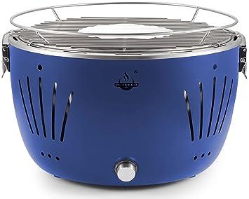 El Fuego Rauchfreier Holzkohlegrill Tulsa : El fuego holzkohlegrill tulsa grill bbq barbecue farbe blau usb