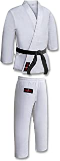 Student Karate Suit White Poly/Cotone (Pre-Shrunk) Student GI Student Karate Uniforms Kids Kimono, con Cintura Bianca