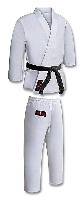 Traje/Uniforme de Karate de Polialgodón para Niños - Color Blanco
