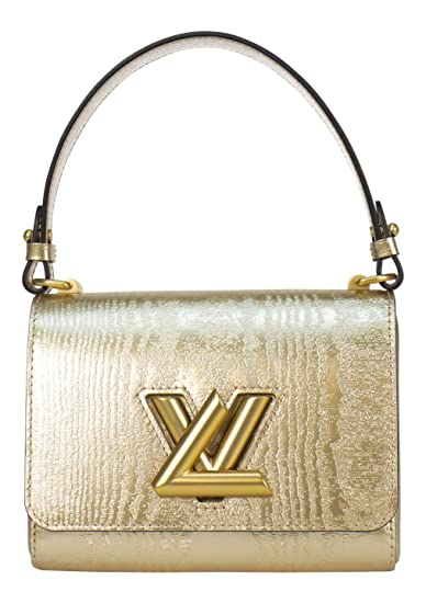 f6abca938298 Image Unavailable. Image not available for. Color: Louis. Vuitton. Gold  Glossy Leather Twist Lock 'Twist PM' Handbag