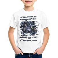 style3 Pantera Negra Camiseta para Niños T-Shirt Zoo Leones de montaña Jungla