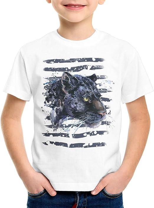 style3 Pantera Negra Camiseta para Niños T-Shirt Zoo Leones de montaña Jungla: Amazon.es: Ropa y accesorios