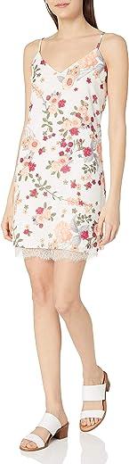 فستان نسائي من LovFiRE مزين برسومات أزهار مع دانتيل رموش