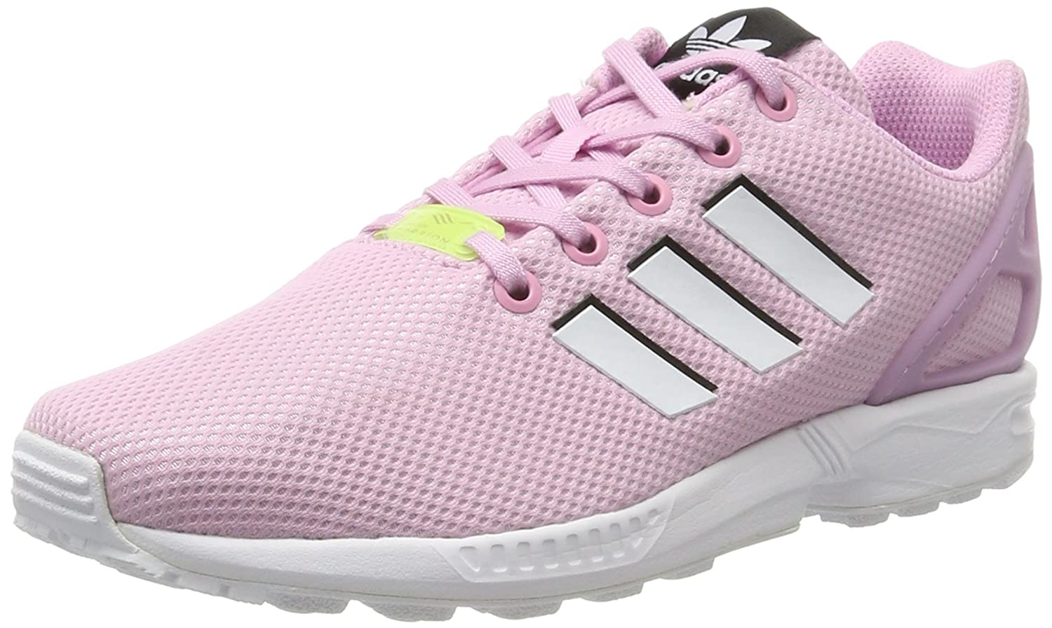 new arrival 9b56e c5f7a Amazon.com | adidas - ZX Flux J - BY9826 - Color: White-Pink ...