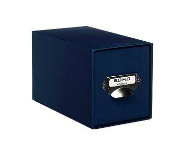 Rössler 1327452900 - Caja para CD, color azul marino, 1 unidad: Amazon.es: Oficina y papelería