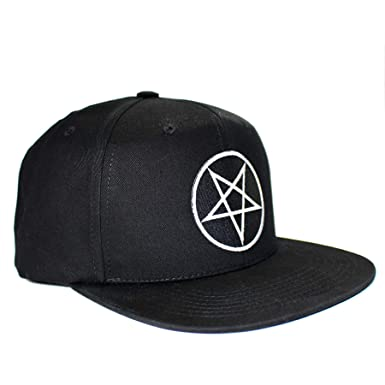 421d4ccf0617f Image Unavailable. Image not available for. Color  Pins   Bones Pentagram  Wool Blend Snapback Hat