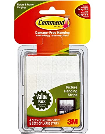 Command para colgar cuadros tiras Value Pack, color multicolor Medium & Large