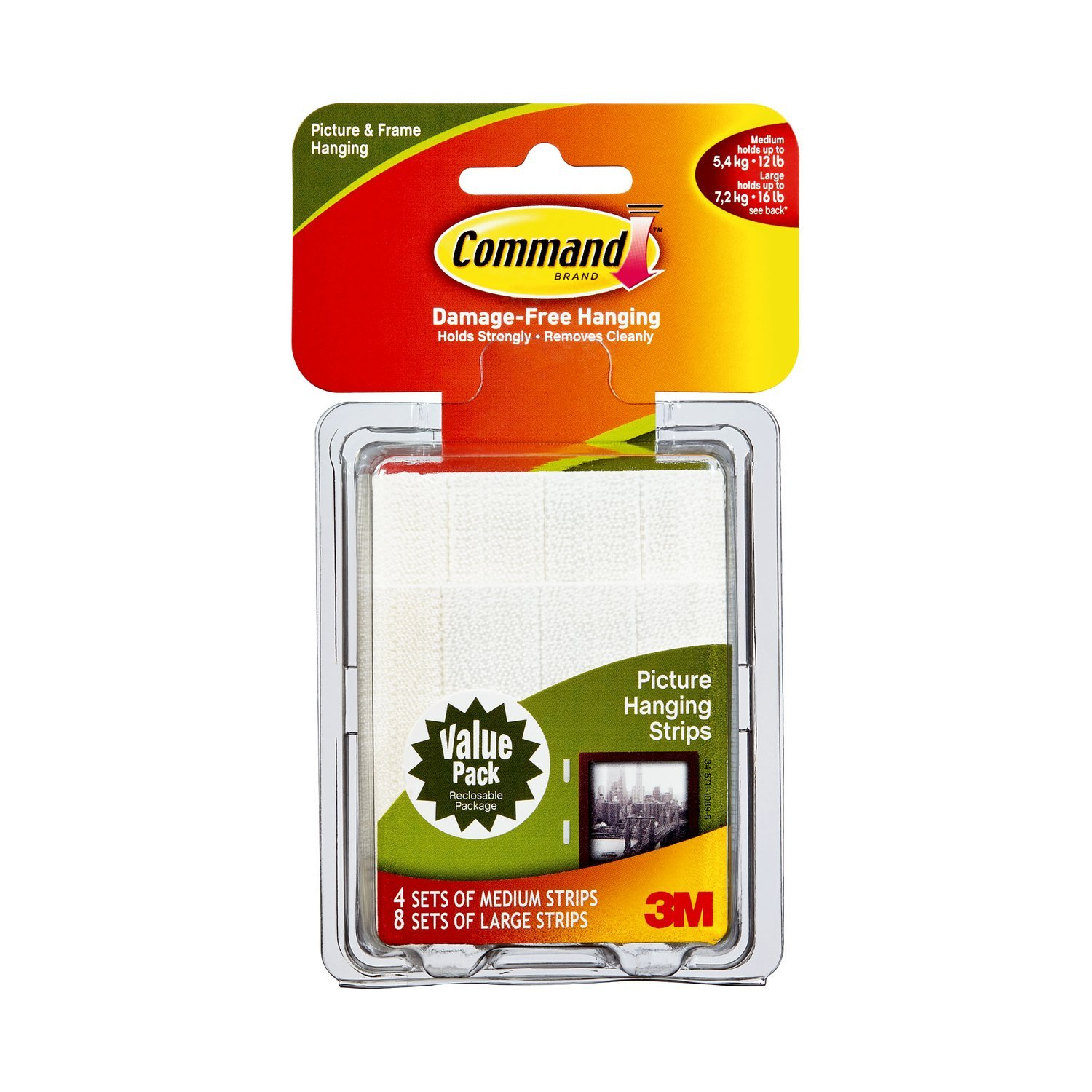 3M Command Picture Hanging Strips Value Pack (Large)