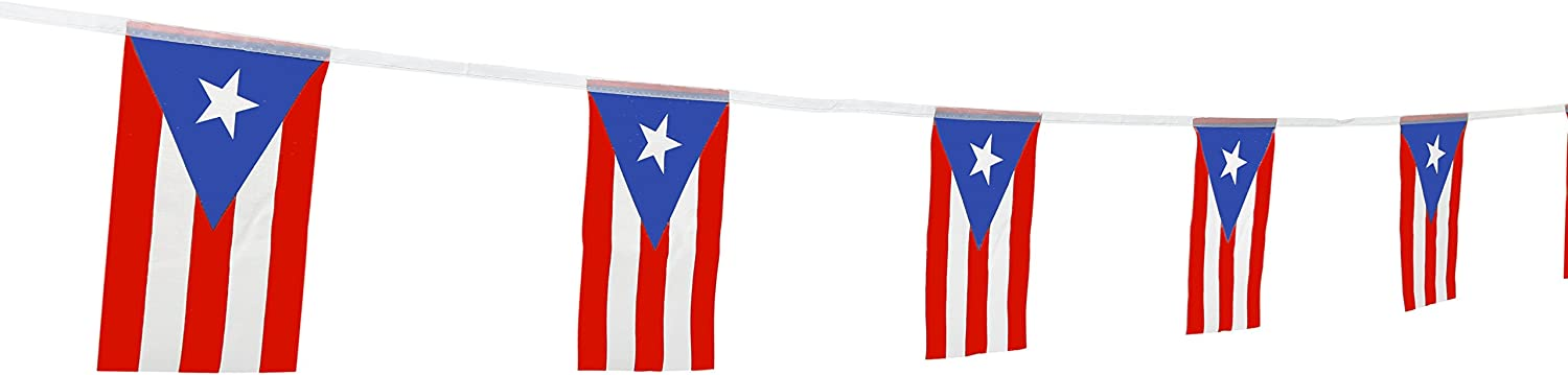 """TSMD Puerto Rico Flag, 100 Feet Puerto Rican Flag National Country World Flags Banner,Party Decorations for Olympics,Bar,School Sports Events,International Festival Celebration(8.2"""" x 5.5'')"""