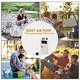 fulhengy Quiet Portable Aquarium Air Pump Battery