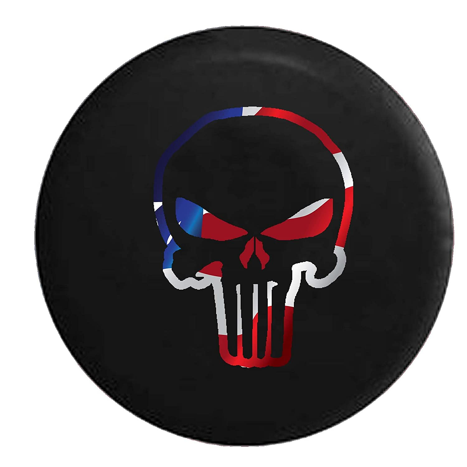 Punisher Skull Shadow Edition Spare Tire Cover Vinyl Black 33 in American Unlimited