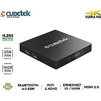 Cubetek CB4KS12 Portable 4K Media Player with 2GB RAM, 16GB ROM, Bluetooth 4.0, HDMI 2.0, H.265V, 5.1 Dolby