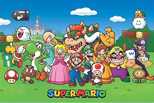 Pyramid America Super Mario Characters Video Game Gaming Cool Wall Decor Art Print Poster 36x24