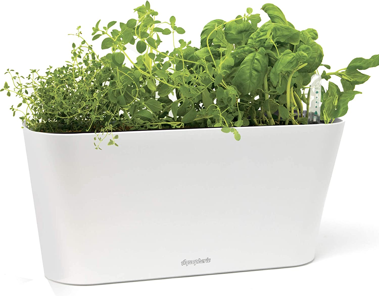 Aquaphoric Herb Garden Tub - Self Watering Passive Hydroponic Planter +  Fiber Soil, Keeps Indoor Kitchen Herbs Fresh and Growing for Weeks on Your  ...