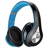 Mpow Bluetooth Headphones Over Ear, Hi-Fi Stereo Wireless Headset, Foldable, Soft Memory-Protein Earmuffs, w/ Built-in Mic and Wired Mode for PC/ Cell