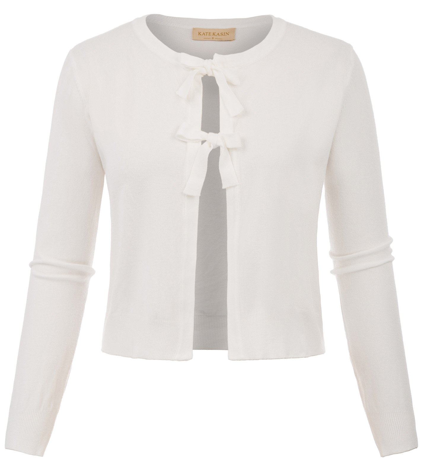Womens Cardigan Sweaters Knitted Long Sleeve in Ivory,L