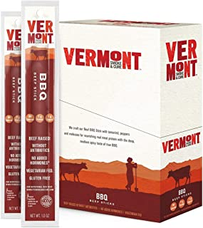 product image for Meat Sticks, Beef, Antibiotic Free, Gluten Free, BBQ, 1oz Stick, 24 Count (3 Pack)
